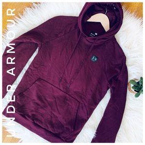 UNDER ARMOUR maroon hoodie sweatshirt